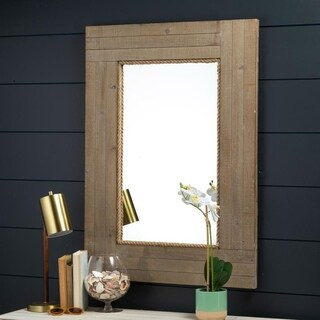 Santa Monica Coastal Wall Mirror Cooper Classics - Grey/Brown