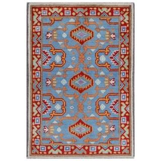 Handmade Kargahi Wool Rug (Afghanistan) - 2'7 x 4'