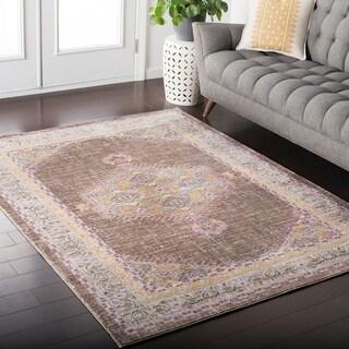 "Hali-House Distressed Persian Vintage Brown Area Rug - 9' x 13'1"""
