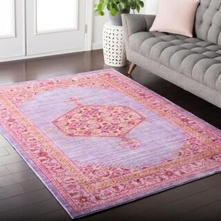 """Hali-House Distressed Persian Vintage Purple Area Rug - 9' x 13'1"""""""