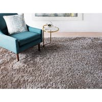 Hand-woven Lovington Brown Super Soft Shag Area Rug - 10' x 14'