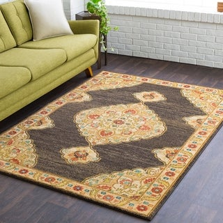 """Calvin Updated Traditional Brown Area Rug - 7'10"""" x 10'3"""""""