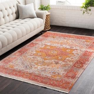 "Vintage Persian Traditional Burnt Orange Area Rug - 2'7"" x 5'"