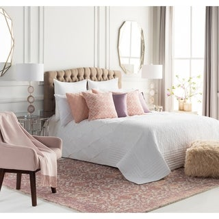 Handmade Honey Wool Pink Accent Rug - 2' x 3'