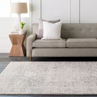 "Nontucket Light Gray Area Rug - 6'7"" square"