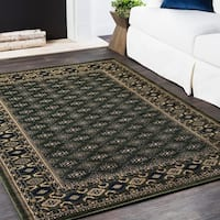 Machine Woven Inaaya Black Polypropylene Rug - 2' x 3'
