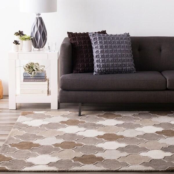 Shop Hand-tufted Moroccan Geometric Wool Area Rug