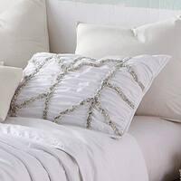 BYB Alexandra Textured Standard Sham - White (2-Pack)