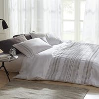 Cambria Stitch Embroidered Duvet Cover - White
