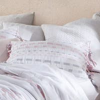 BYB Threads Textured Standard Sham - Gray/Pink (2-Pack)