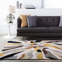 Hand-Tufted Barnes Contemporary Abstract Area Rug - 6' x 9'