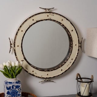 "Ventura 27"" Diameter Nautical Wall Mirror- Cooper Classics - Off White/Off-White/White"