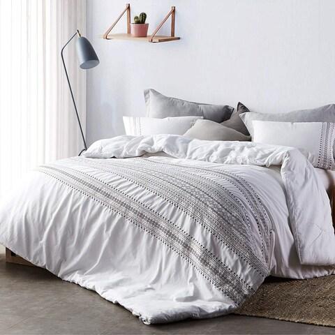 Cambria Stitch Embroidered Comforter - White