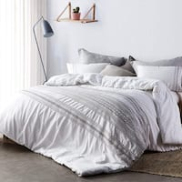 Cambria Stitch Embroidered Comforter - White