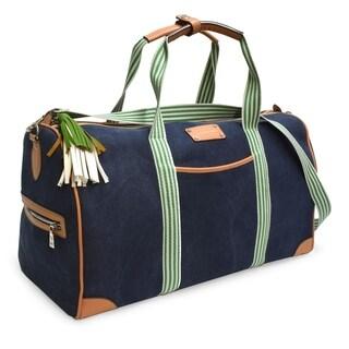 Adrienne Vittadini Canvas Collection Blue 22-inch Duffel Bag