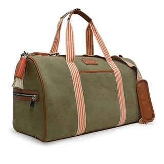 Adrienne Vittadini Canvas Collection Natural 22-inch Duffel Bag