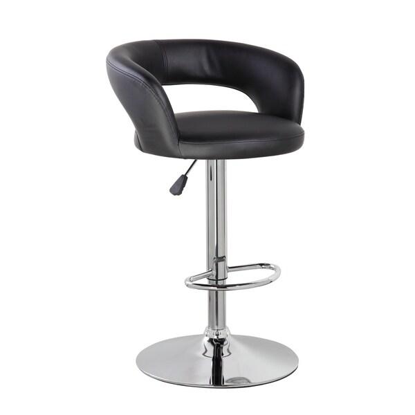 Shop Height Adjustable Swivel Pu Leather Armless Barstool