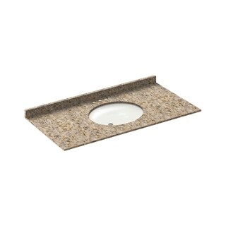 Vanity Top Granite Wheat 49x22 with Backsplash (4 in Spread)