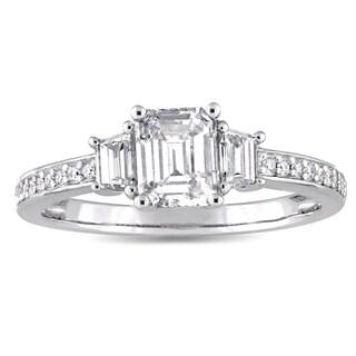 Miadora 14k White Gold 1ct TDW Diamond 3-Stone Engagement Ring