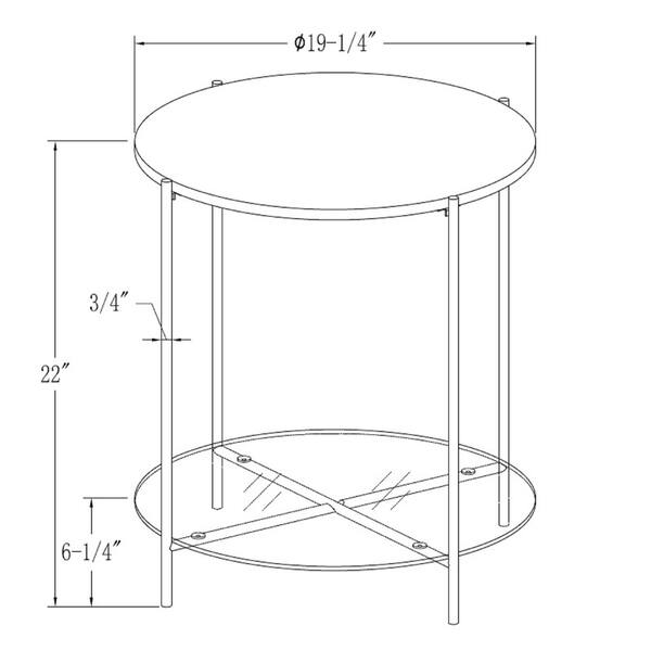 Silver Orchid Howell 20 Inch Round End Side Table