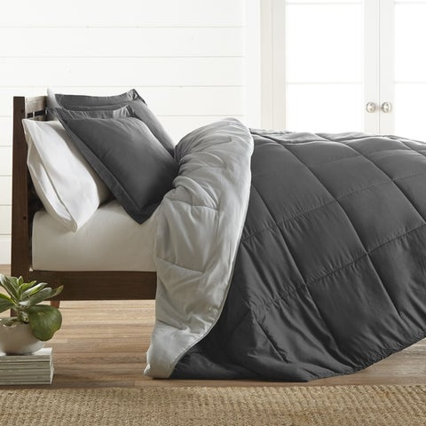 Merit Linens All-Season Down Alternative Reversible Comforter Set