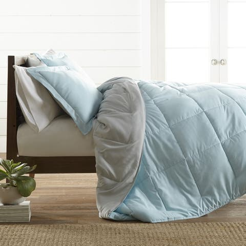 Merit Linens All-Season Down Alternative Lightweight Reversible Comforter Set