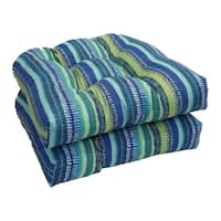 Solarium Shades of Blue 19-inch U-shape Cushion (Set of 2)