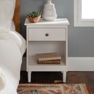 1-Drawer Solid Wood Nightstand