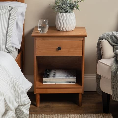 Taylor & Olive Bullrushes 1-drawer Solid Wood Nightstand