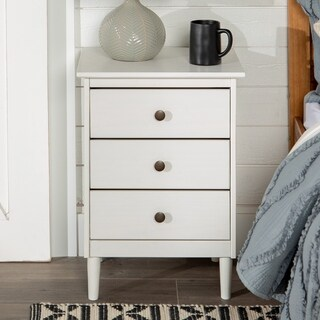 3-Drawer Solid Wood Nightstand