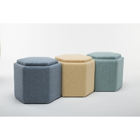 Trinity Hexagonal Storage Ottoman