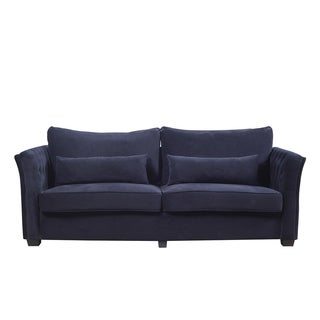 Classic Velvet Upholstered Loveseat Sofa