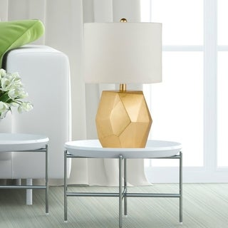 Virtue Home Rocher 19 inch Modern Gold Table Lamp - 12 x 12 x 19