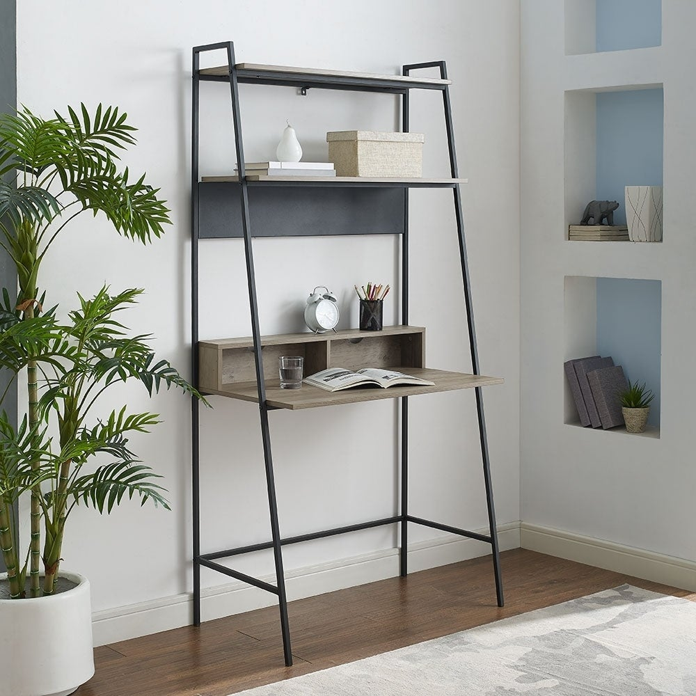 sale retailer 88fc7 095ec Shop Urban Industrial Metal and Wood Ladder Desk - Ships To ...