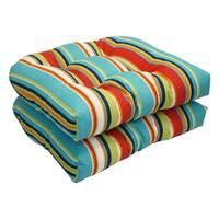 Solarium Shades of Breeze 19-inch U-shape Chair Cushion (Set of 2)