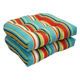 Solarium Shades of Breeze 19-inch U-shape Chair Cushion (Set of 2)