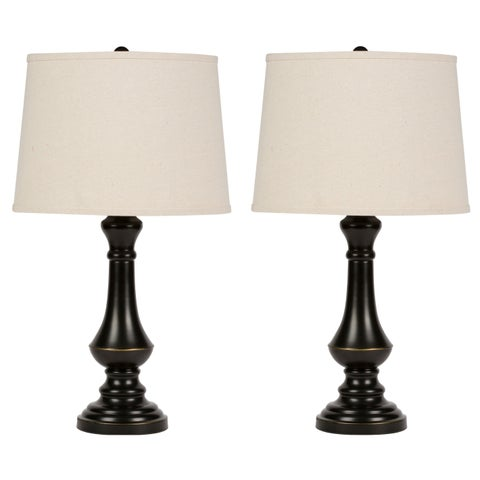 Virtue Home Cambridge 25 inch Table Lamp Set of 2