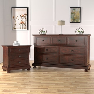 Furniture of America Casa Cherry 2-piece Dresser and Nightstand Set
