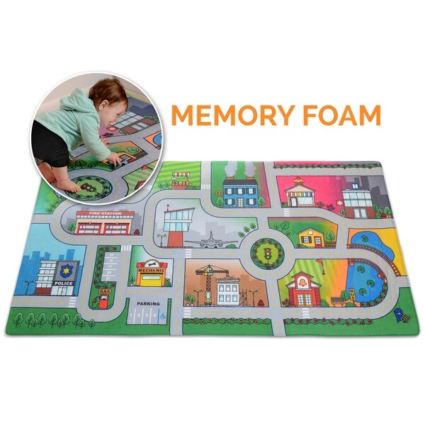 Shop Milliard Car Rug Road Play Mat Luxurious Memory Foam Activity