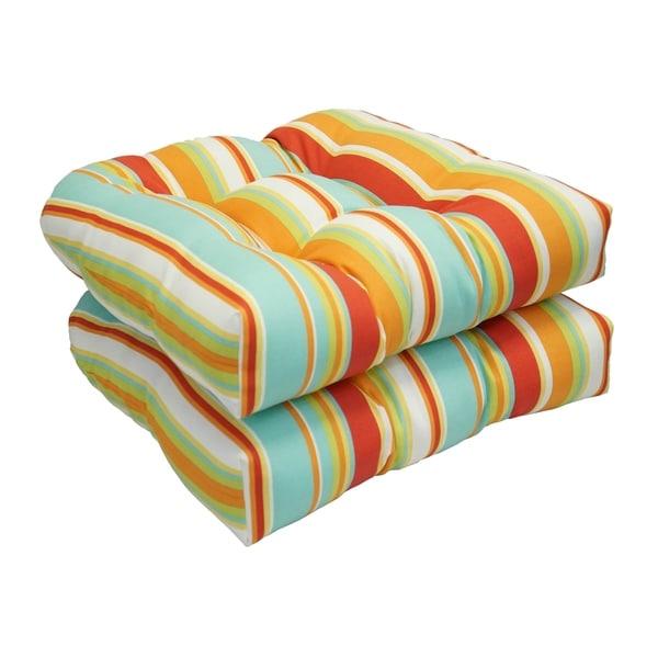 Merveilleux Solarium Shades Of Breeze 19 Inch U Shape Chair Cushion (Set Of 4