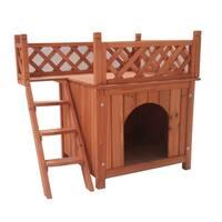 ALEKO Dog Pet Home Luxurious Side Steps Balcony Lounger 28X20X25In