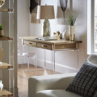 Annika Reclaimed Wood and Acrylic Desk by iNSPIRE Q Artisan