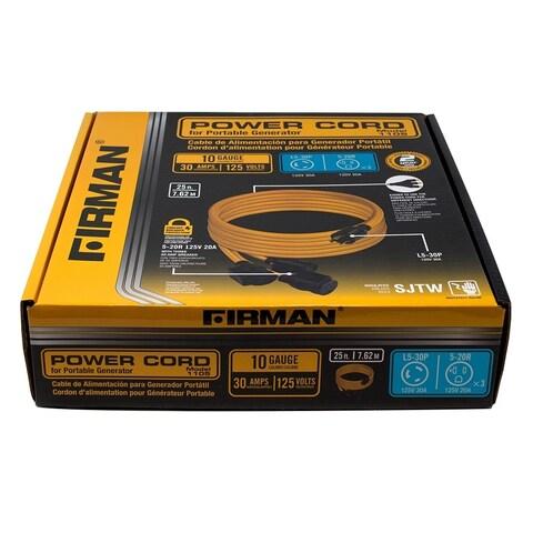 Firman 1105 30 Amp Generator Power Cord (L5-30P to 3x5-20R)