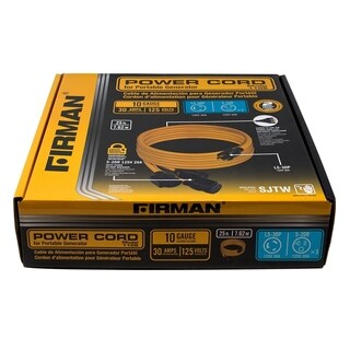 Firman 1105 30 Amp Generator Power Cord (L5-30P to 3x5-20R)
