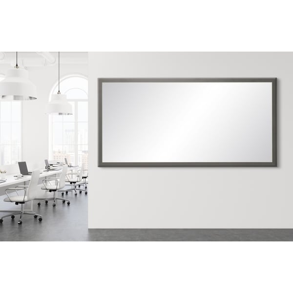 "BrandtWorks Modern Matte Charcoal Gray Decorative Full Length Floor Mirror - 29.5"" x 68.5"""