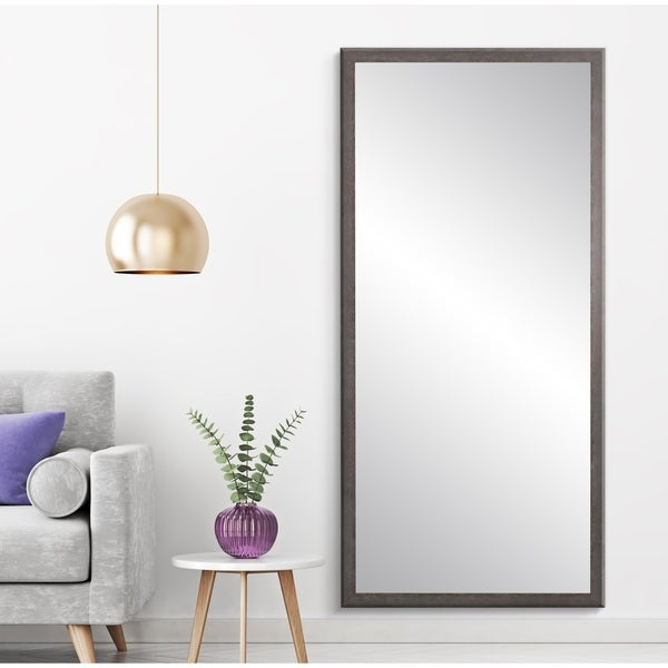 "BrandtWorks Farmhouse Charcoal Gray Decorative Full Length Floor Mirror - 29.5"" x 68.5"""