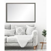 "BrandtWorks Modern Matte Charcoal Gray Decorative Rectangle Wall Mirror - 29.5"" x 52.5"""