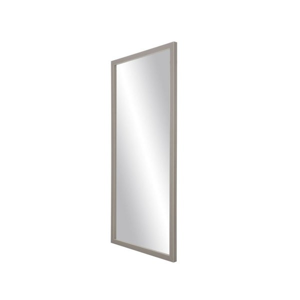 "BrandtWorks Modern Matte Gray Decorative Full Length Floor Mirror - 29.5"" x 68.5"""