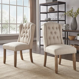 Portia Tufted Wingback Dining Chair with Nailhead Trim by iNSPIRE Q Artisan