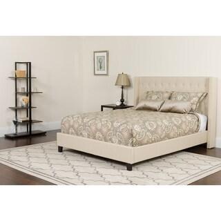 Riverdale Size Tufted Upholstered Platform Bed